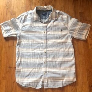 O'Neil Collection Short Sleeve Button Down Sz L